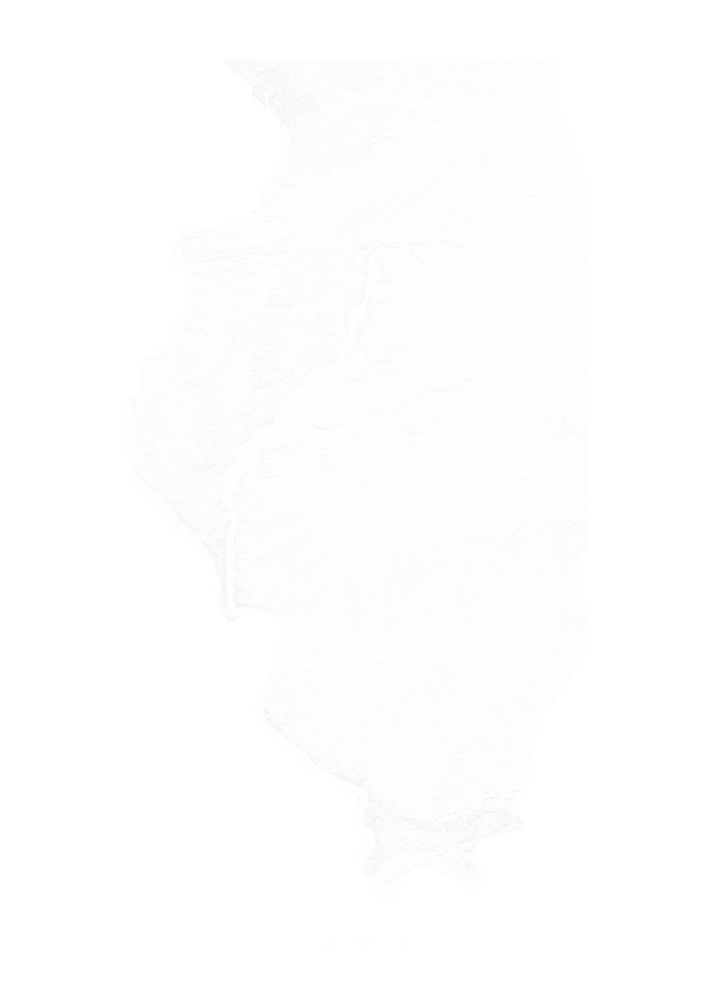 Illinois wall map
