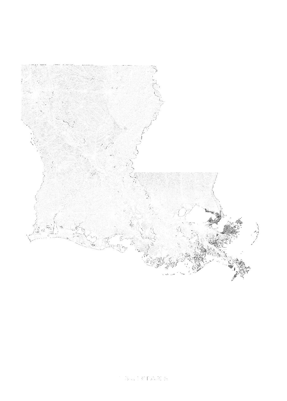 Louisiana wall map