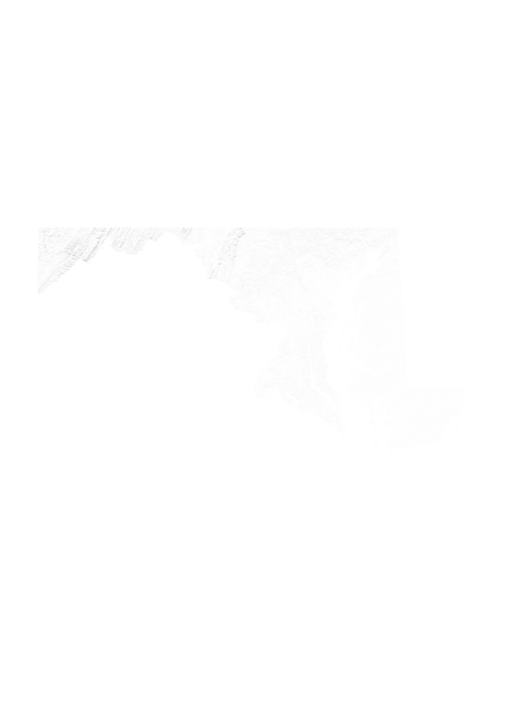 Maryland wall map