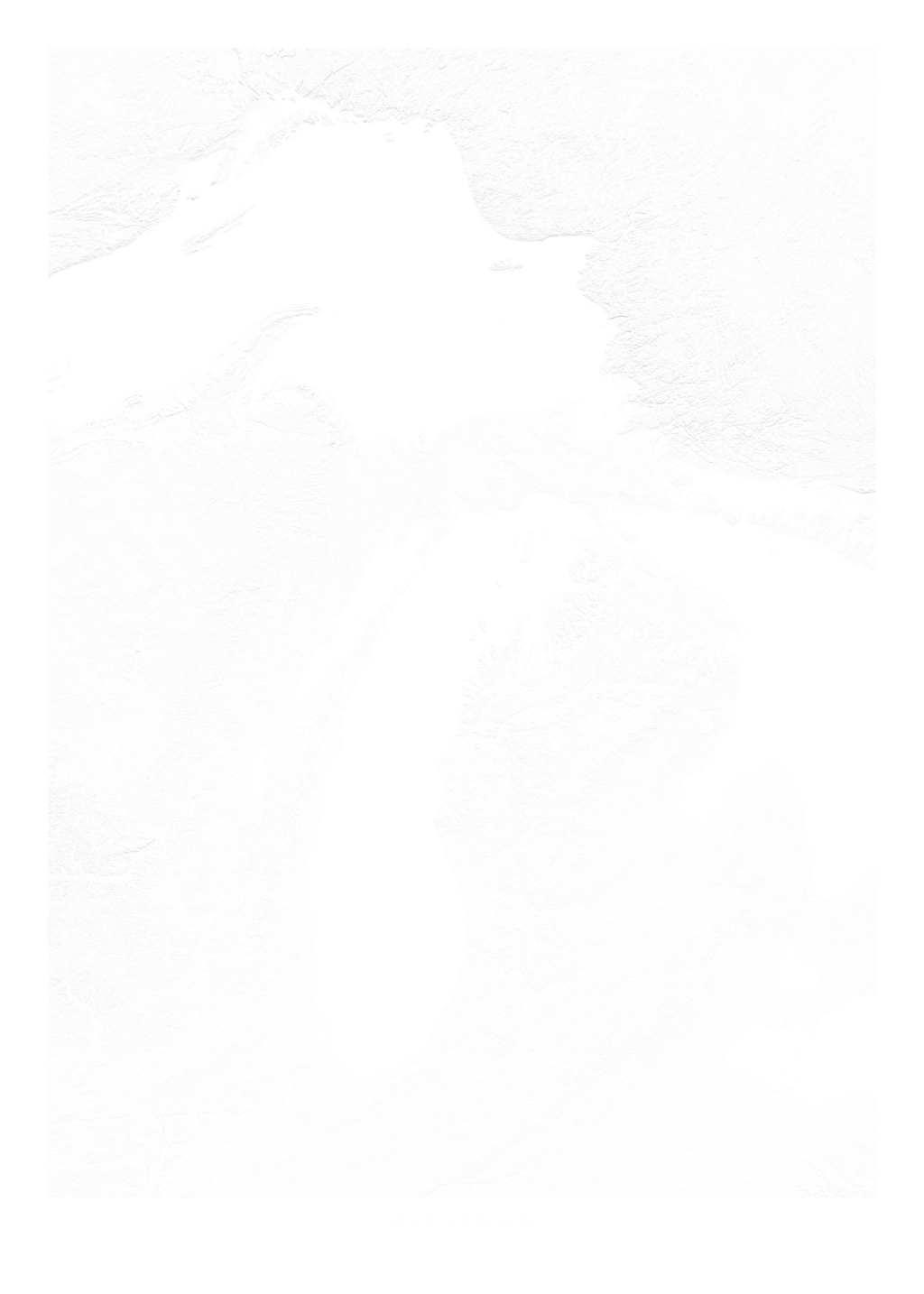 Michigan wall map
