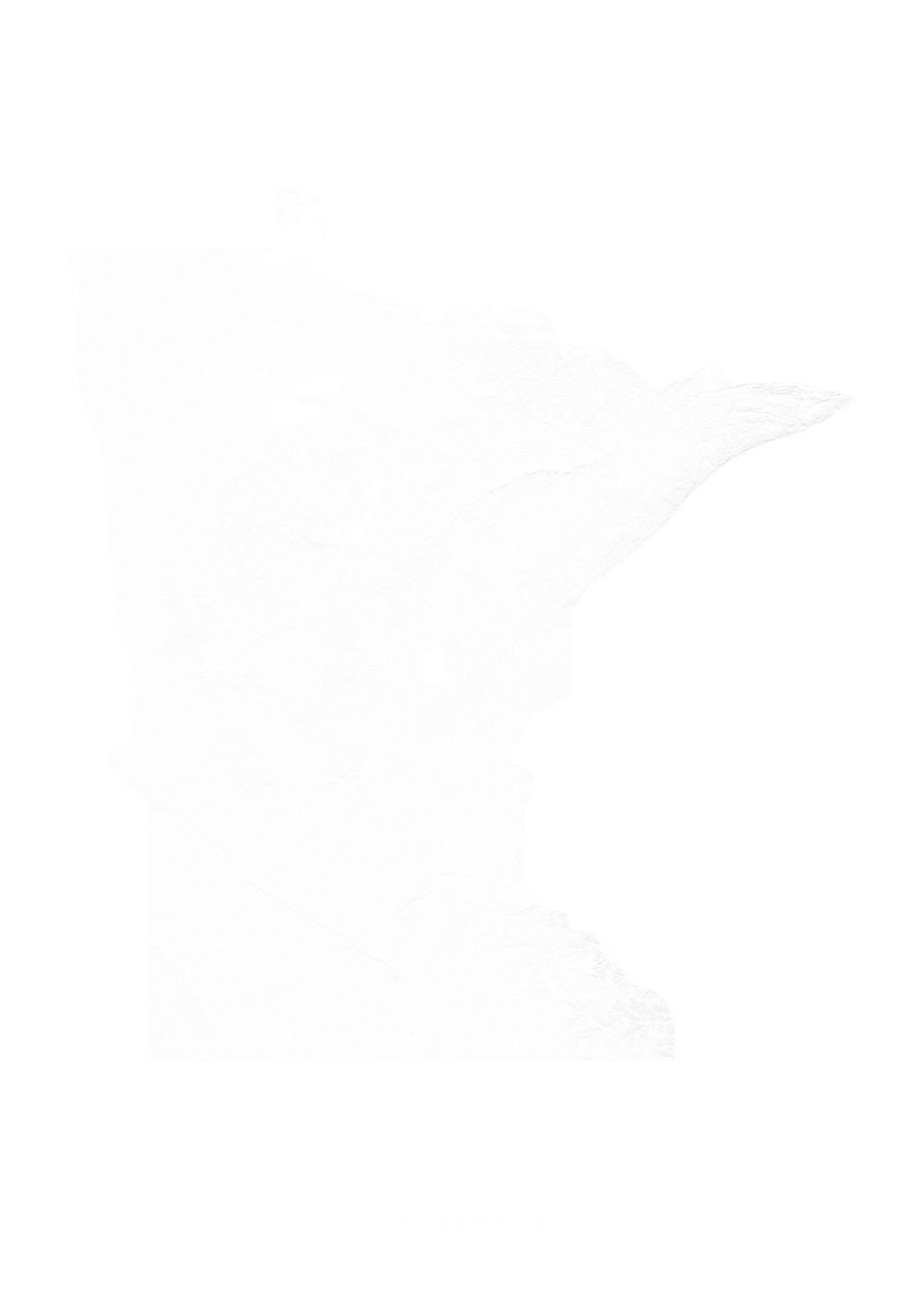 Minnesota wall map