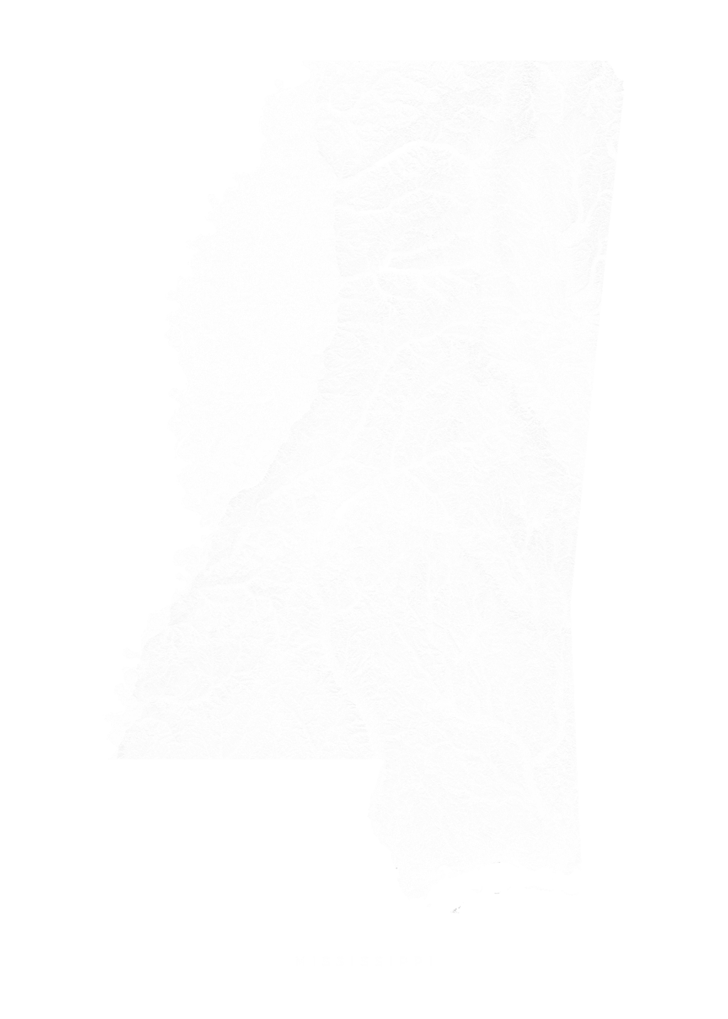 Mississippi wall map