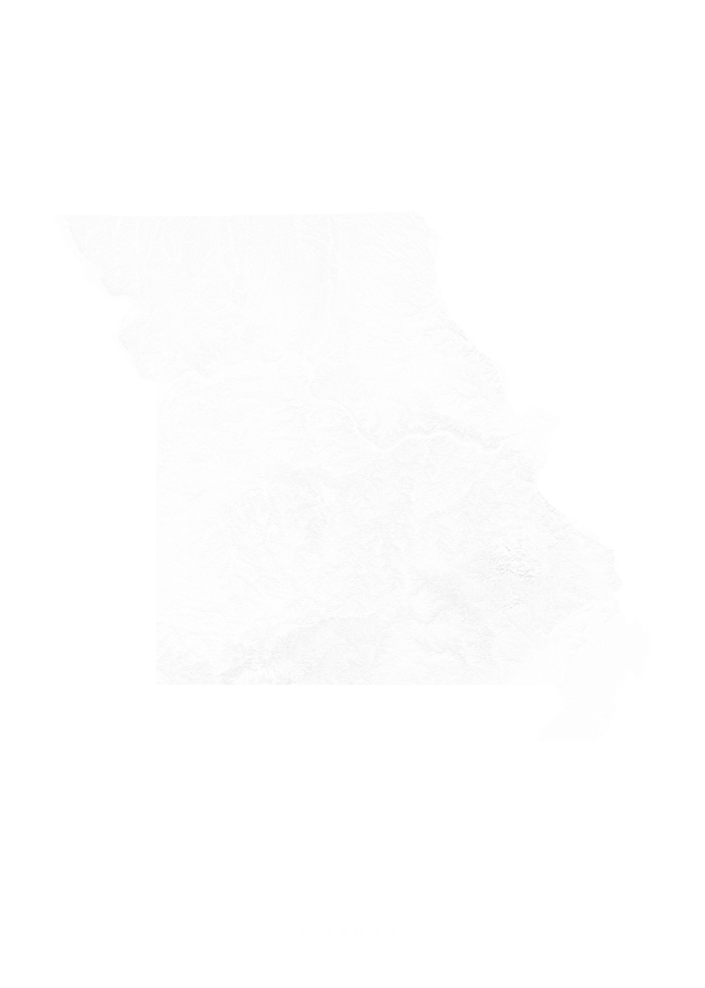 Missouri wall map