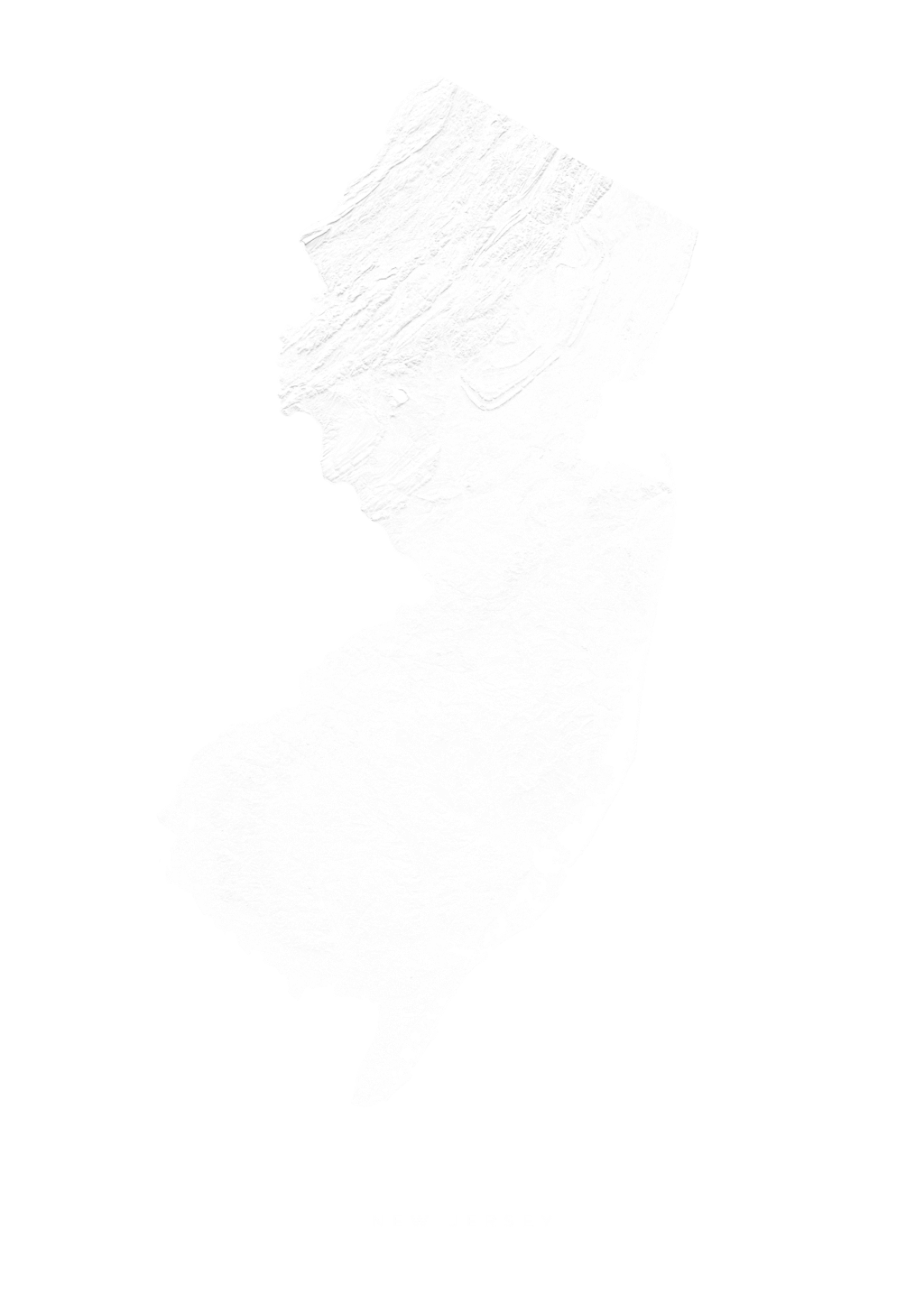 New Jersey wall map
