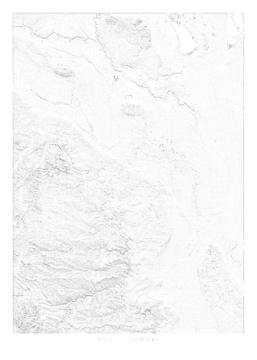 North Dakota wall map