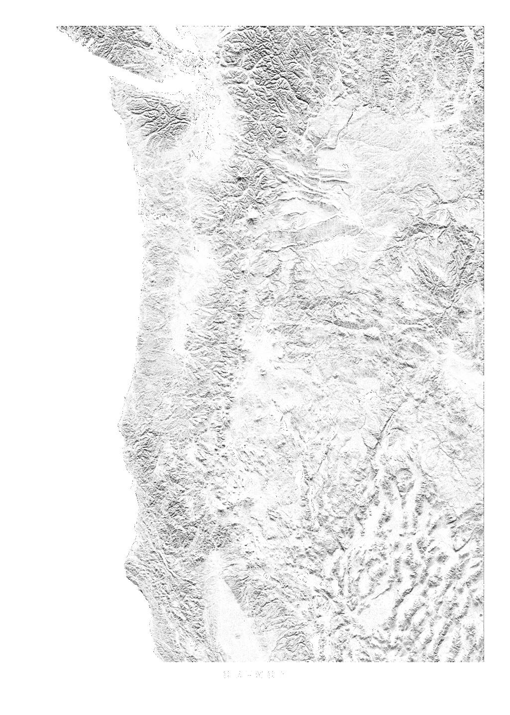 Oregon wall map