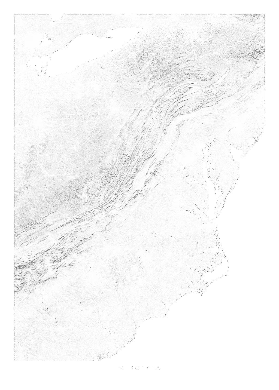 Virginia wall map