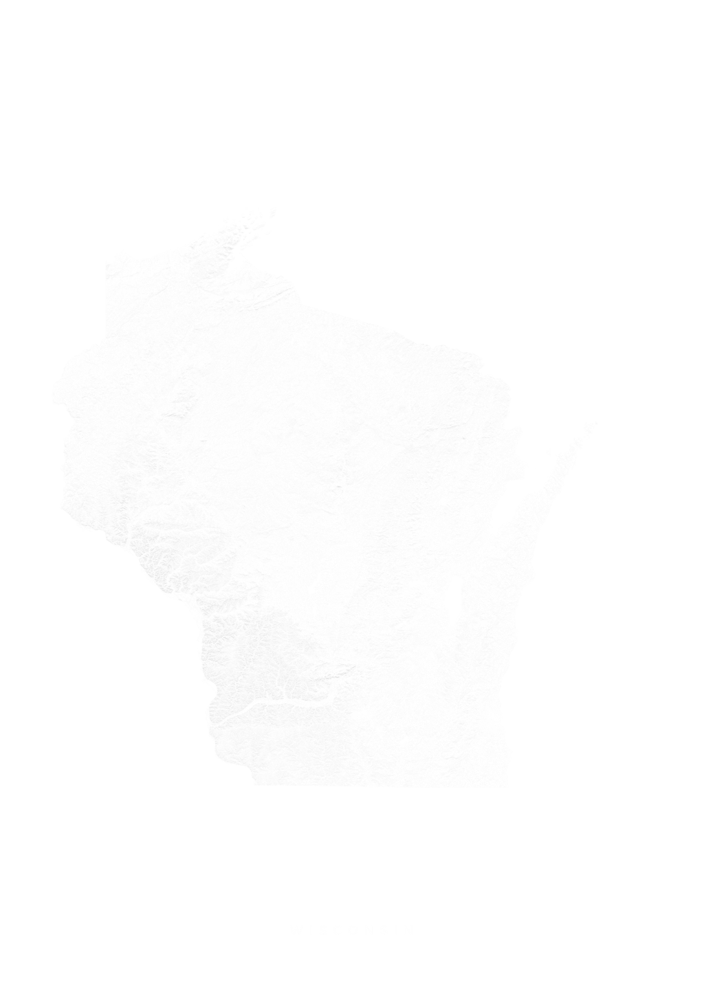 Wisconsin wall map