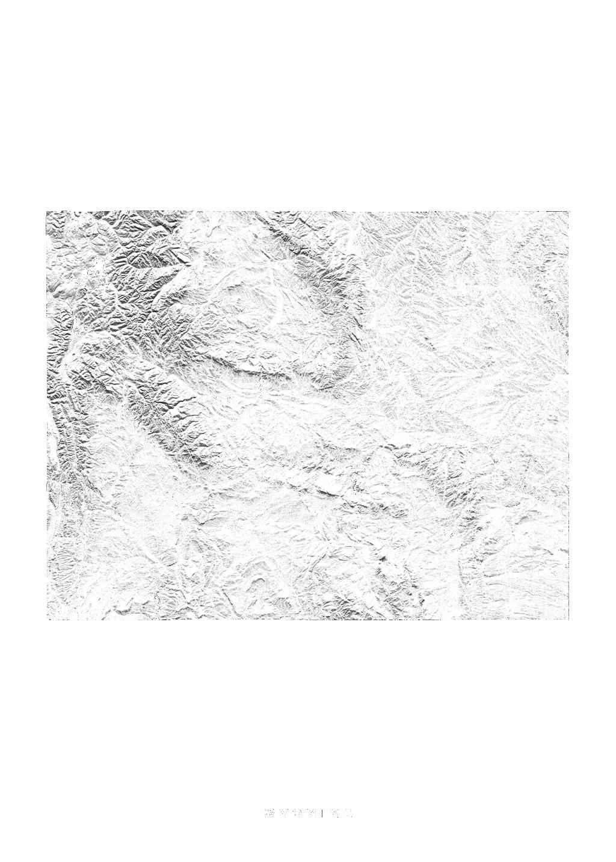 Wyoming wall map