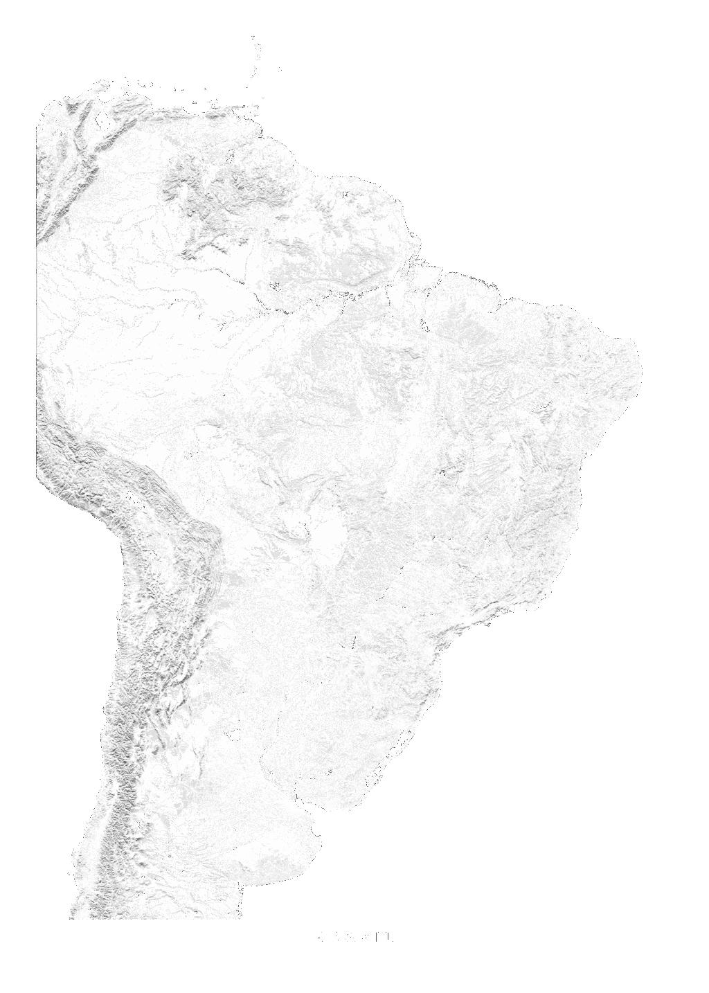 Brazil wall map