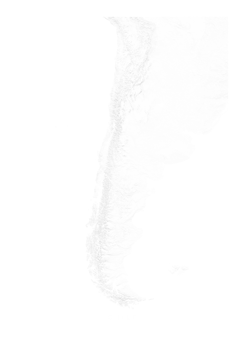 Chile wall map