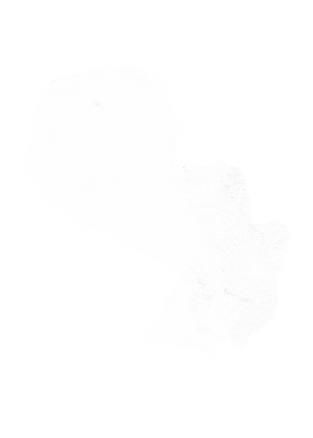 Paraguay wall map