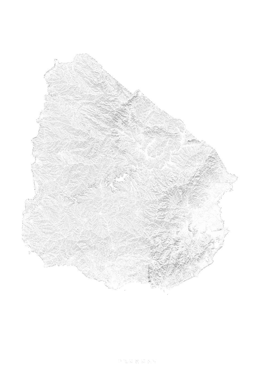 Uruguay wall map